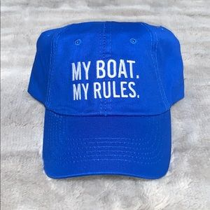 NWOT My Boat My Rules Hat